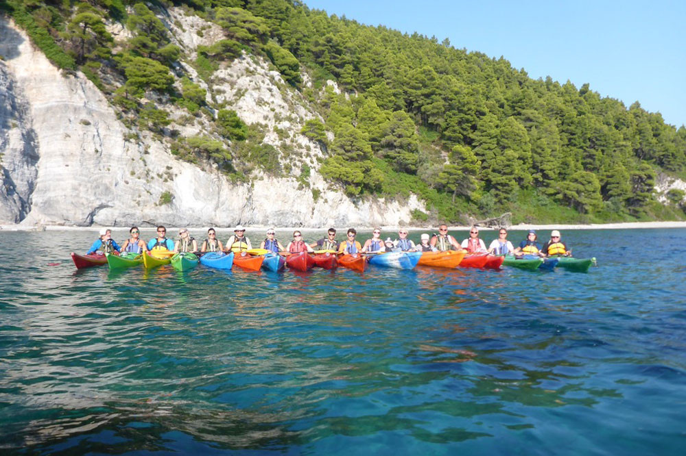 Group Kayak Greece